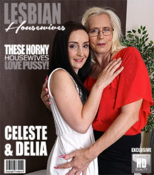 Celeste (50), Delia (35) (2 mature lesbians sharing their pussies) (20/09/2017) 1080p