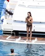 Adriana Lima - Bikini candids in Bodrum, Turkey 7/14/17