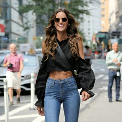 Izabel Goulart - Arriving at the Victoria's Secret Show Casting Call in NYC 8/21/17