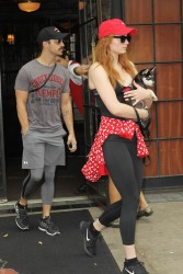 Sophie Turner - Steps out with a puppy in NYC - September 7, 2017