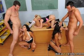 SCHOOLGIRLS - SCHOOL TEACHER  - CLASSROOM - ORGY 4