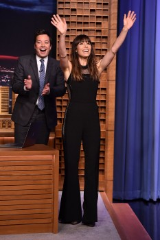 Jessica Biel beauty at The Tonight Show Starring Jimmy Fallon 7/26/17