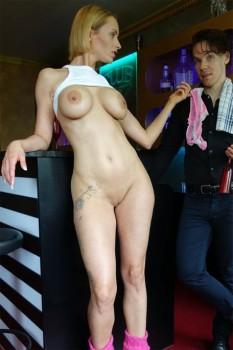 German Blonde Pornstar Anike Ekina Fucks Newbie Bartender 720p Cover