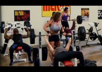 Female bodybuilders in commercials, TV shows or films.