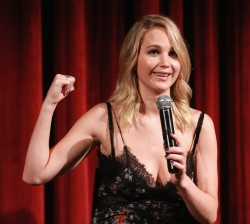 """Jennifer Lawrence -          """"Mother!"""" Screening """"Questions and Answers"""" Museum of Modern Art September 21st 2017."""