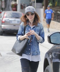 Lily Collins - Going to a salon in Beverly Hills 7/9/17