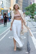 Devon Windsor -                    	Leaving Victoria's Secret HQ New York City August 21st 2017.