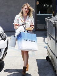 Hilary Duff - Shopping in Beverly Hills 7/11/17