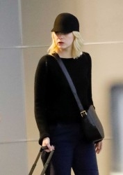 Emma Stone - At JFK Airport 9/17/17