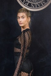Hailey Baldwin - L'Oreal X Balmain Party in Paris 9/28/17