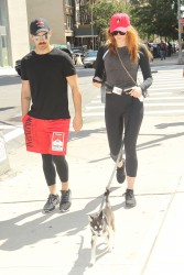 Sophie Turner - Out for a stroll with her puppy named Porky in NYC - September 8, 2017