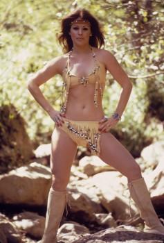 Priscilla Presley: Native American Inspired Bikini & Boots: HQ x 1
