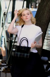 Elle Fanning - On set of a Woody Allen Film in NYC 9/29/17